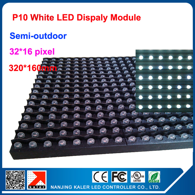 TEEHO P10 indoor/outdoor 320*160mm dot matrix led display panel indoor led display,semi-outdoor dot martix module P10 white
