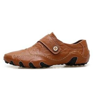 Image 2 - JKPUDUN el yapımı hakiki deri erkek ayakkabısı lüks marka İtalyan rahat erkek loaferlar nefes sürüş ayakkabısı üzerinde kayma mokasen