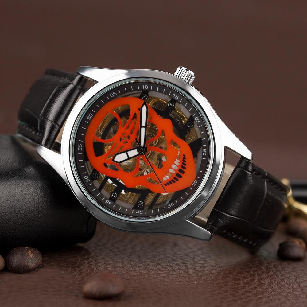 YISUYA Steampunk Esqueleto Reloj de pulsera Hombres Mano devanado - Relojes para hombres - foto 2