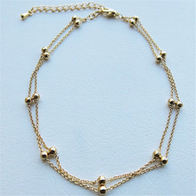 Luck Dog Gold Double Foot Chain Anklet Ankle Bracelet Barefoot Beach Foot Jewelry