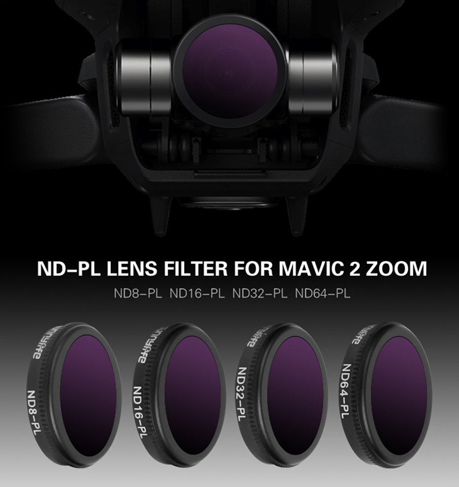 Outique Zoom Filter Lens Filter Compatible with 5 Set Filter Set Professional Edition Drone Accessories Filter Photo Filter Filter with Dark Black Aluminum