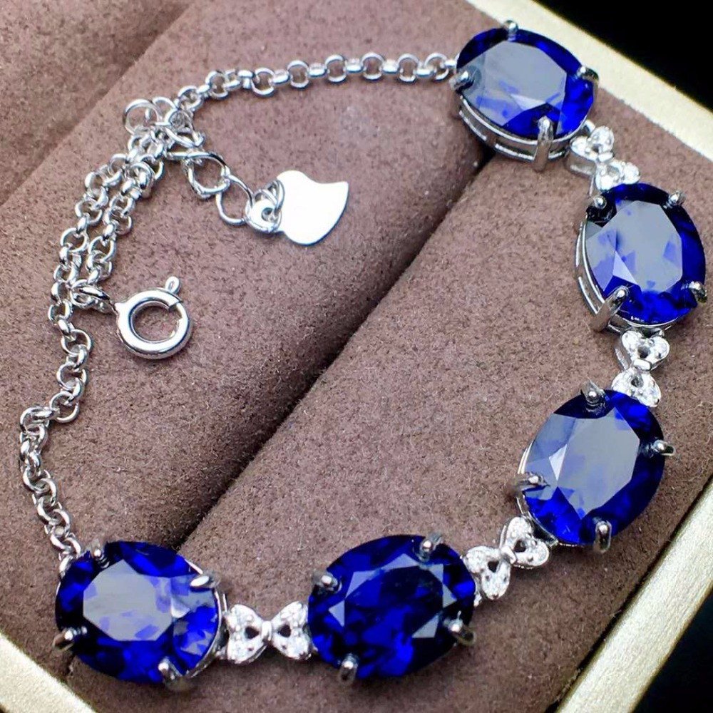Premium Sapphire Bracelet, symbol of loyalty, loyalty, love and honesty, jewel size 8 * 10mm! loyalty