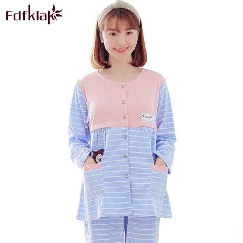 Fdfklak 2018 New For Lactating Moms Clothes Maternity Clothes Pajamas For Pregnant Women Nursing Pajamas Maternity Pijama F165