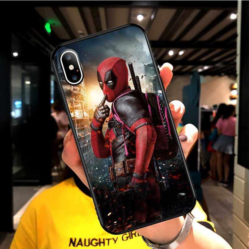 Marvel hombre araña funda de silicona para iphone 6 6S 7 8 Plus X Xs X Max Xr vengadores Pantera Negra Deadpool funda para iphone 11 Pro Max