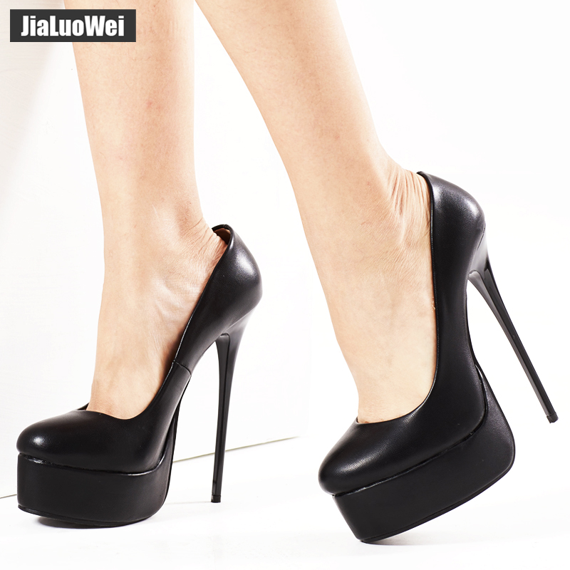 IN STOCK jialuowei Women Sexy Pumps 16cm Extreme High Heels Platform Designer Stiletto Pumps Sexy Fetish Leopardo Print Shoes