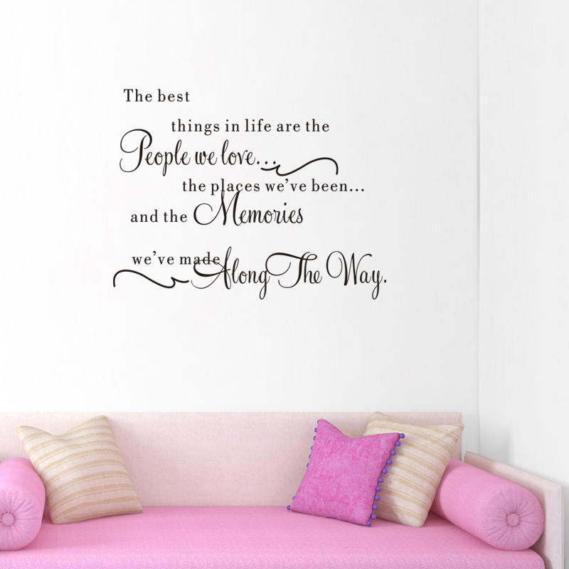 The Best Things In Life Are The People We Love Wall Stickers Quotes Vinyl  Art Living Room Decor Diy Home Decals Black In Wall Stickers From Home U0026  Garden On ...
