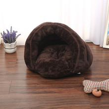 2 IN 1 Cat Bed Foldable Soft Warm Winter Dog House Animal Puppy Cave Sleeping Mat Pad Nest Kennel Pet Supplies ATY-010