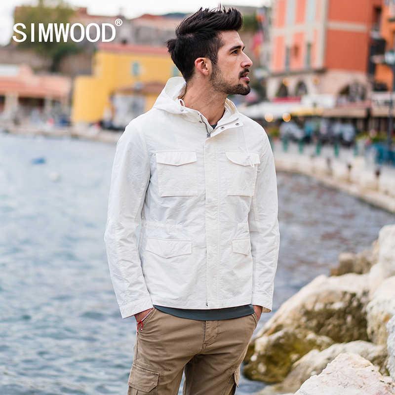fbf111684da SIMWOOD Jacket Men 2018 Autumn New Fashion Thin Coats Bomber Slim Fit Plus  Size Casual Outerwear