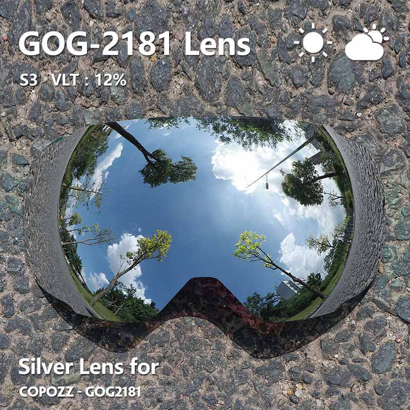 Image 3 - COPOZZ Magnetic Lenses for ski goggles GOG 2181 Lens Anti fog UV400 Spherical Ski glasses snow Snowboard goggles(Lens only)-in Skiing Eyewear from Sports & Entertainment