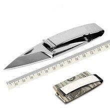 2pcs Outdoor Necessary EDC Tool Multi Wallet Money Clip knives Mini Folding Knife Money Holder jackknife