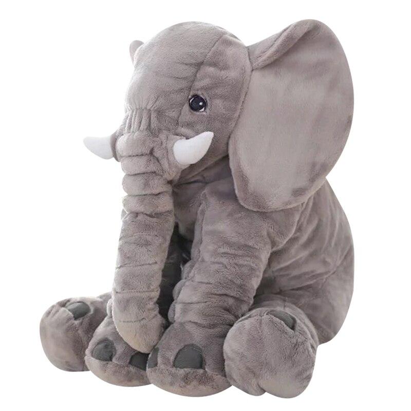 65cm Height Large Plush Elephant Doll Toy Kids Sleeping Back Cushion Cute Baby Accompany Soft Big Size Doll Birthday Gift 60cm large tyrannosaurus doll dinosaur plush toy sleeping pillow doll