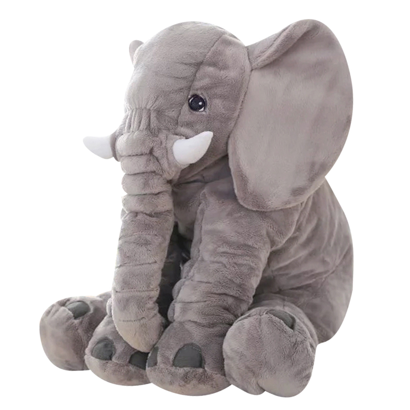 Gray 65cm Height Large Plush Elephant Doll Toy Kids Sleeping Back Cushion Cute Baby Accompany Soft Big Size Doll Chrismas Gift large plush elephant toy kids sleeping back cushion elephant doll pp cotton lining baby doll stuffed animals 65 cm kids toys