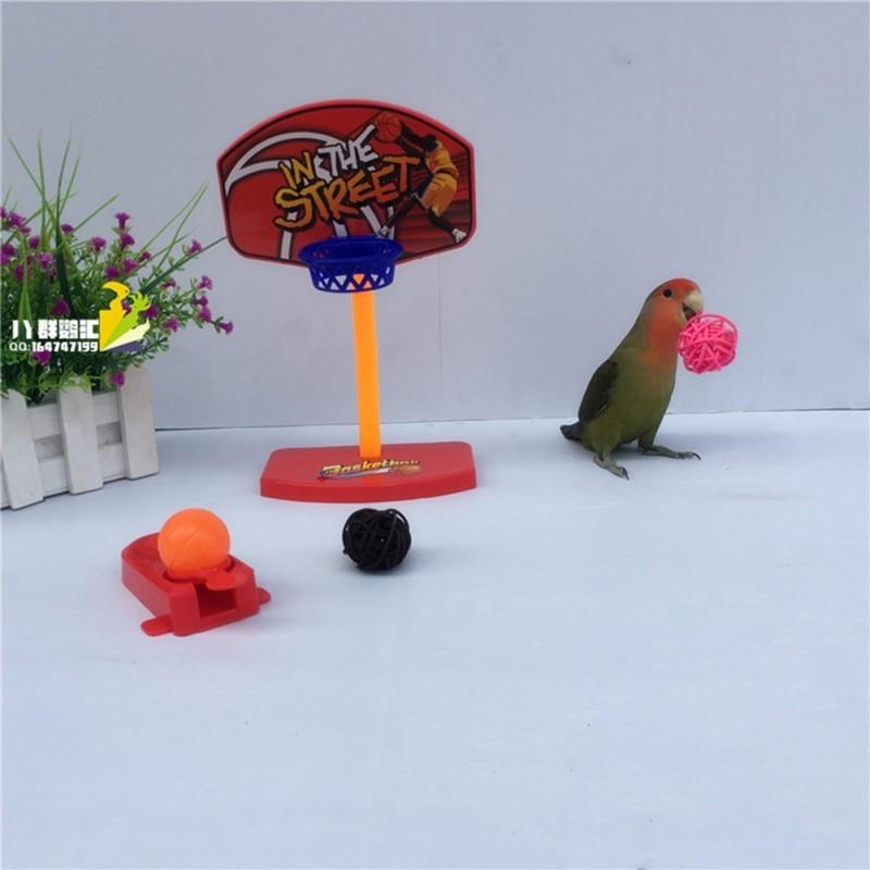 Pet Birds Chew Toy Parakeet Bell Balls Parrot Toys Birdie Basketball Hoop Props Pet Parrot Pet Products Supplies