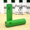 2 pçs/lote novo 100% vtc4 originais 3.6 v 18650 us18650vtc4 2100 mah alta dreno para sony bateria frete grátis!!!