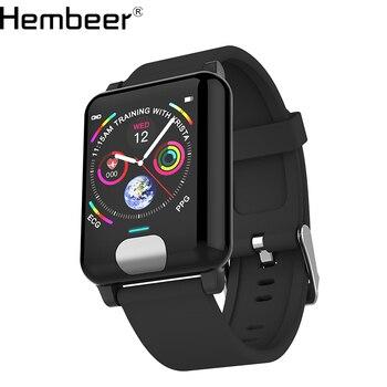 Hembeer E04 Смарт-часы PPG ECG кровяное давление монитор сердечного ритма Синий Черный Красный наручные часы Счетчик шагов для IOS Android телефон