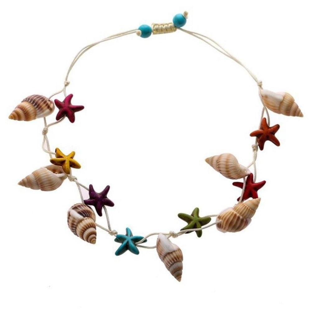 2018 новых природных оболочки красочные Морская звезда очарование веревку