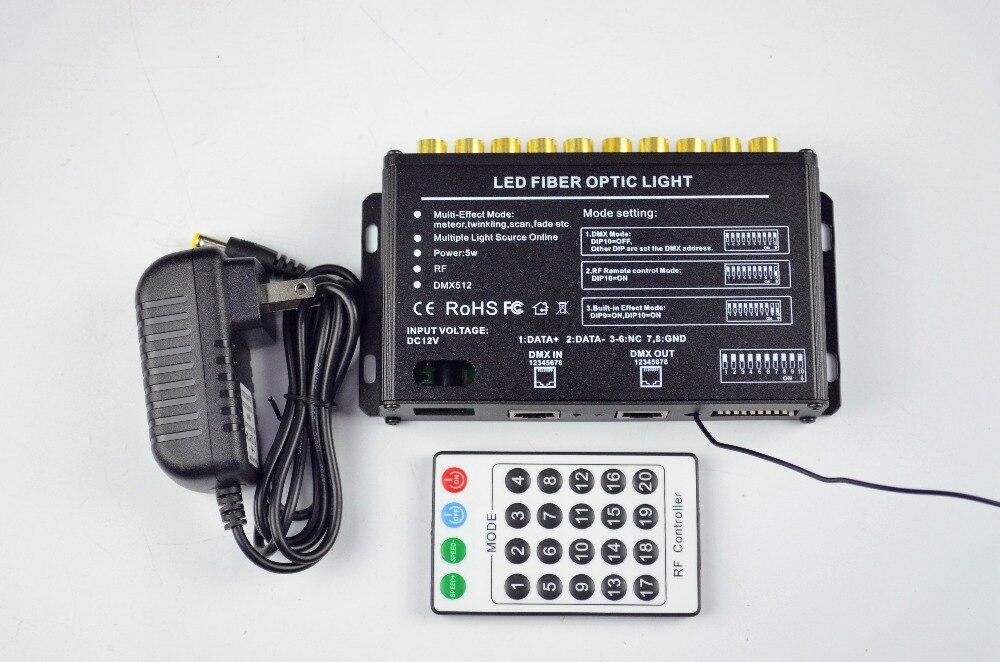 DMX512 10 отверстий LED оптический свет двигателя, AC86-265V вход; 10 каналов (rgb); с 24key РФ дистанционного