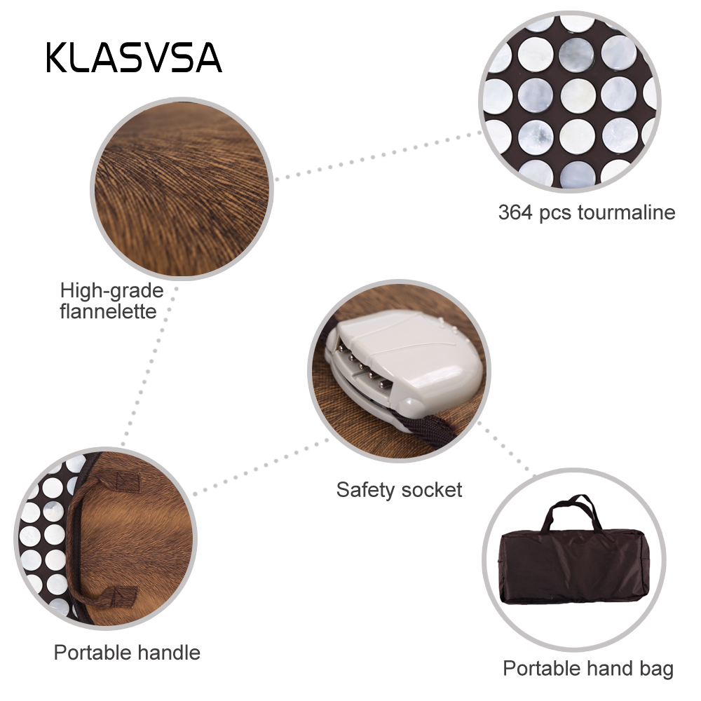 KLASVSA Infracrveno grijanje Jade Stone Mat Masaža Fizikalna - Zdravstvena zaštita - Foto 3