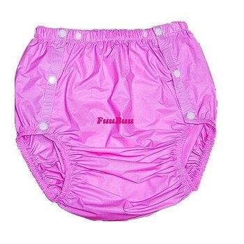 Бесплатная доставка, FUUBUU2203-Pink-M-1PCS подгузники для взрослых, одноразовые подгузники, пластиковые подгузники, шорты из ПВХ