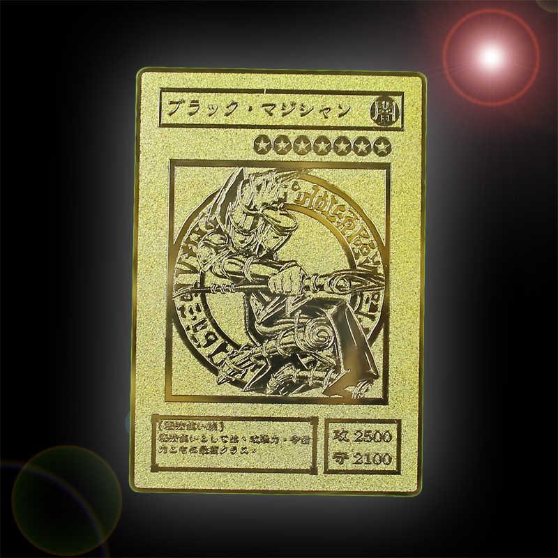 YU GI OH Ouro Cartão De Metal Japonês Local Golden Eye Branco Dragão VOL Edição Cartão Coleção Toy Kids Presente