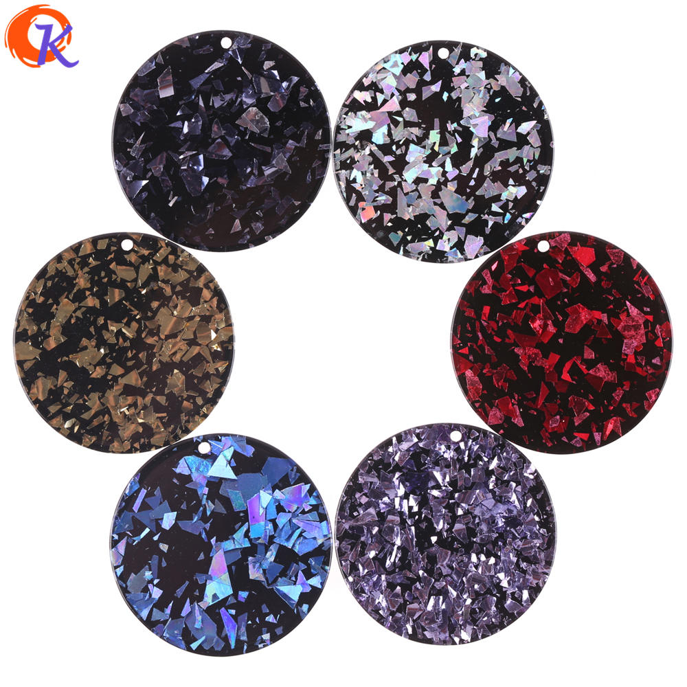 Cordial Design 50Pcs 36*36mm Jewelry Accessories/Earring Connectors/Round Coin Shape/DIY Making/Hand Made/Earring Findings