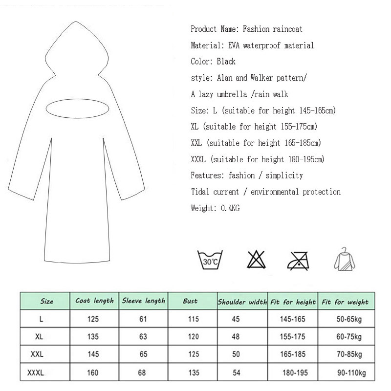 Image 2 - EVA Women Raincoat Rainwear Men Rain Coat Impermeable Capa de Chuva Chubasquero Poncho Japan Waterproof Rain Cape Cover Hooded-in Raincoats from Home & Garden