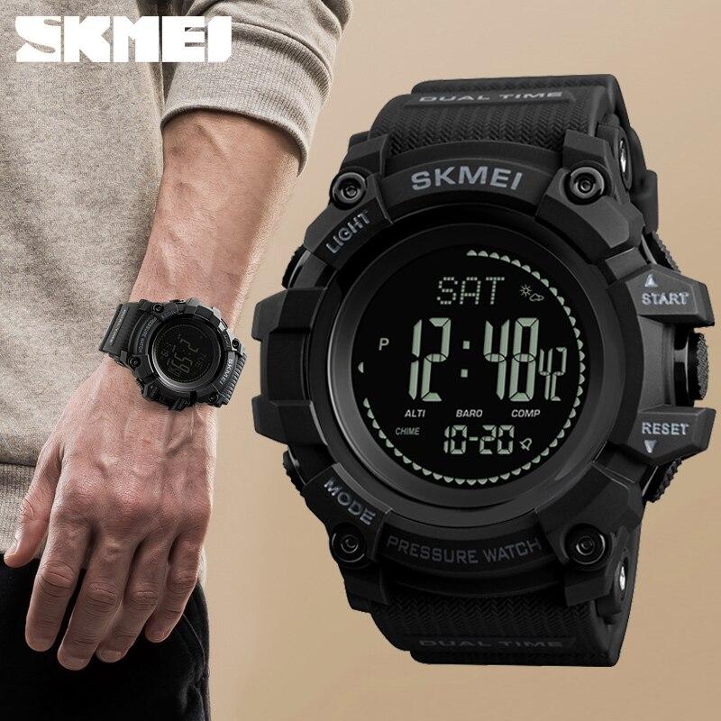 Neue Herren Sport Uhren SKMEI Marke Outdoor Digitale Uhr Stunden Höhenmesser Countdown Druck Kompass Thermometer Männer Armbanduhr