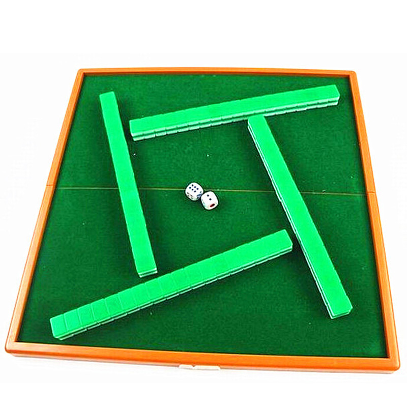 Online Shop Foldable Mini Mahjong Puzzle Board Game Travel Package - Travel pool table