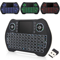 Wireless Mini Keyboard Air Mouse Russo Inglês 2.4GHz Backlight Para Smart TV Box Android Laptop X-BOX