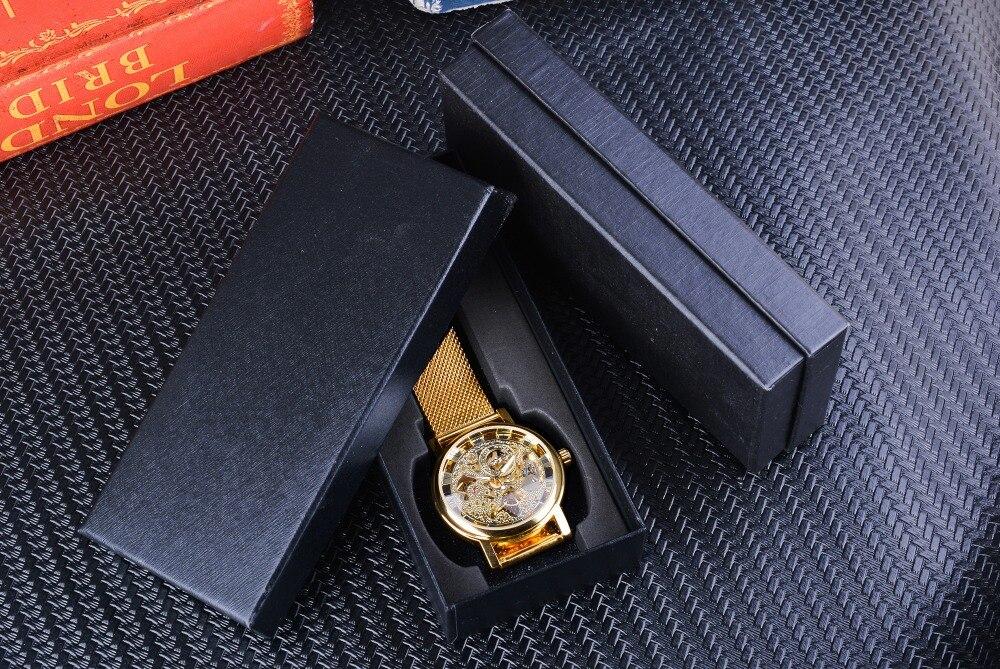 HTB1mhLkv8jTBKNjSZFwq6AG4XXaW Winner Thin Case Full Golden Design Retro Openwork Clock Mesh Band Men's Mechanical Watches Top Brand Luxury Luminous Hands