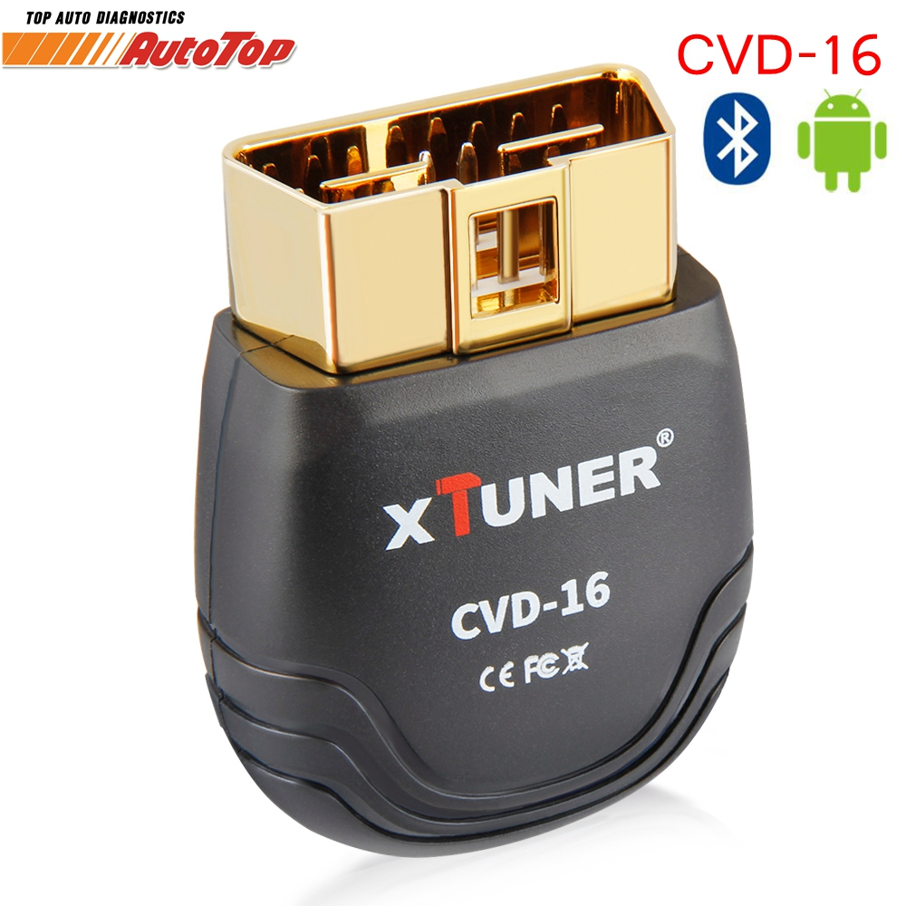 NEW XTUNER CVD-16 Bluetooth Diesel OBD Heavy Duty Truck Diagnostic Scanner Car Diagnostic Tool Adapter for Android Better ELM327 dhl freeship vd tcs cdp single board multidiag pro with bluetooth 2014 r2 keygen 8 car cable car truck generic diagnostic tool
