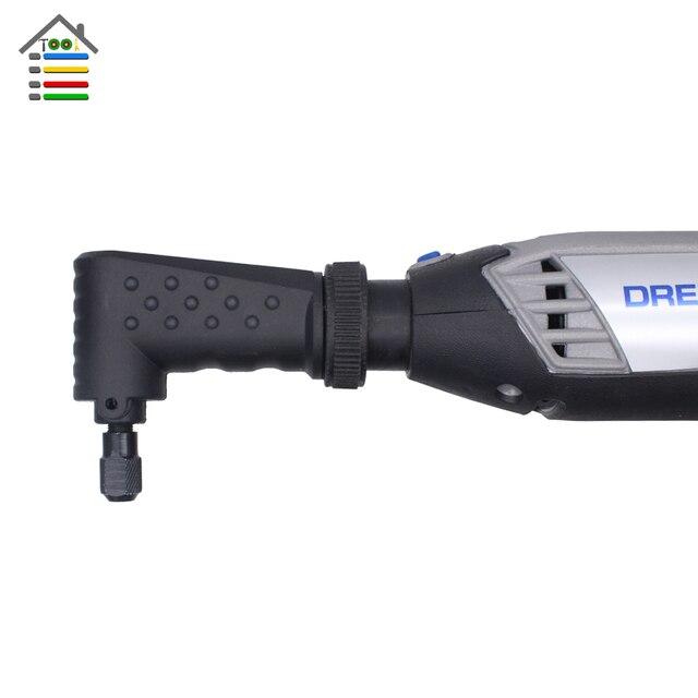 AUTOTOOLHOME שחור ימין זווית נהג 90 Dgree רוטרי כלי קובץ מצורף fit עבור Dremel 4000 3000 275 8100 חשמלי מטחנות