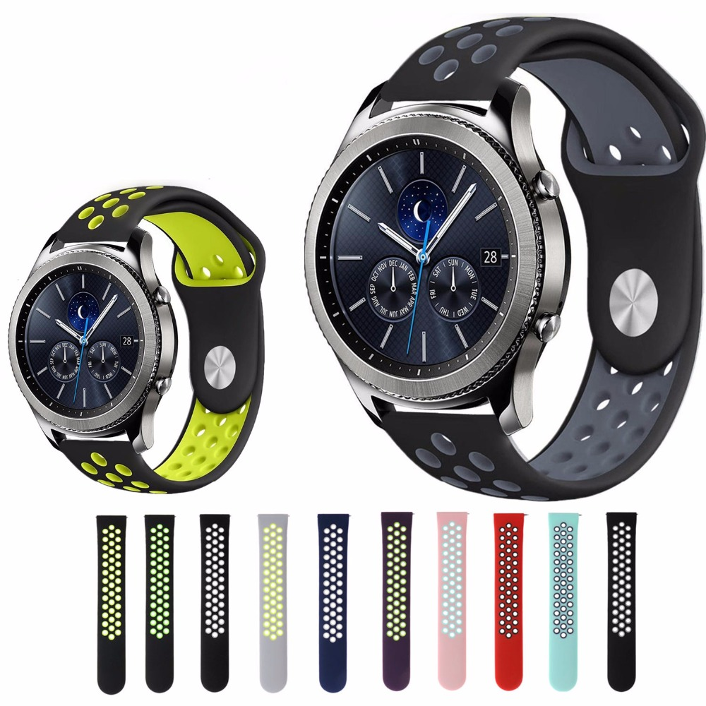 Sport Strap band for samsung gear s3 Frontier/Classic Breathable Silicone Bracelet Watchband Replacement wristband metal buckleSport Strap band for samsung gear s3 Frontier/Classic Breathable Silicone Bracelet Watchband Replacement wristband metal buckle
