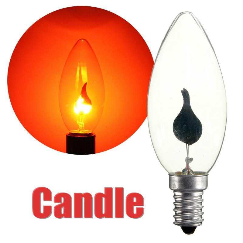 E14 Ретро светодио дный Эдисон лампочка 220 В огонь/Свеча хвост люстры Винтаж энергосберегающие лампы освещения домашнего декора