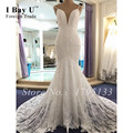 Simple Wedding Gowns Formal Wear Boho Mermaid Wedding Dress  Vestido Boho Vestido De Noiva Plus Size Renda Barato White Dresses