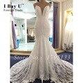 Simples Vestidos de Casamento Formal Wear Boho vestido de Noiva Sereia Vestido Boho Vestido De Noiva Plus Size Vestidos de Renda Barato Branco