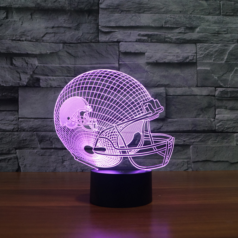 Cleveland Brown American football teamlogo on helmetSLong 3D led Light2