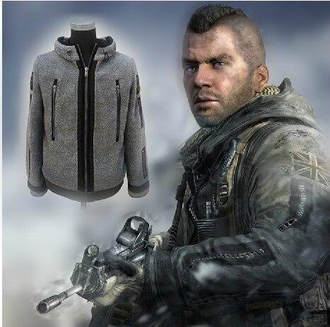 New Cosplay Modern Warfare2 Task Force 141 Ghost Coat battle Jacket Tactical Fleece jacket