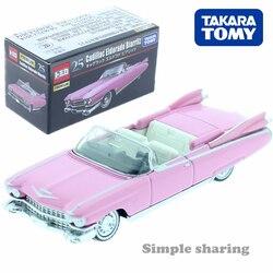 Tomica premium n° 25 cadillac eldorado biarritz 1:75 takara tomy diecast metal modelo kit collectibles veículos de brinquedo carro rosa