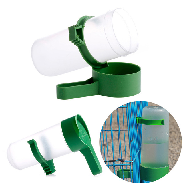 S/L Bird Drinker Food Feeder Waterer for Budgie Aviary Finches Canary Anti Algae