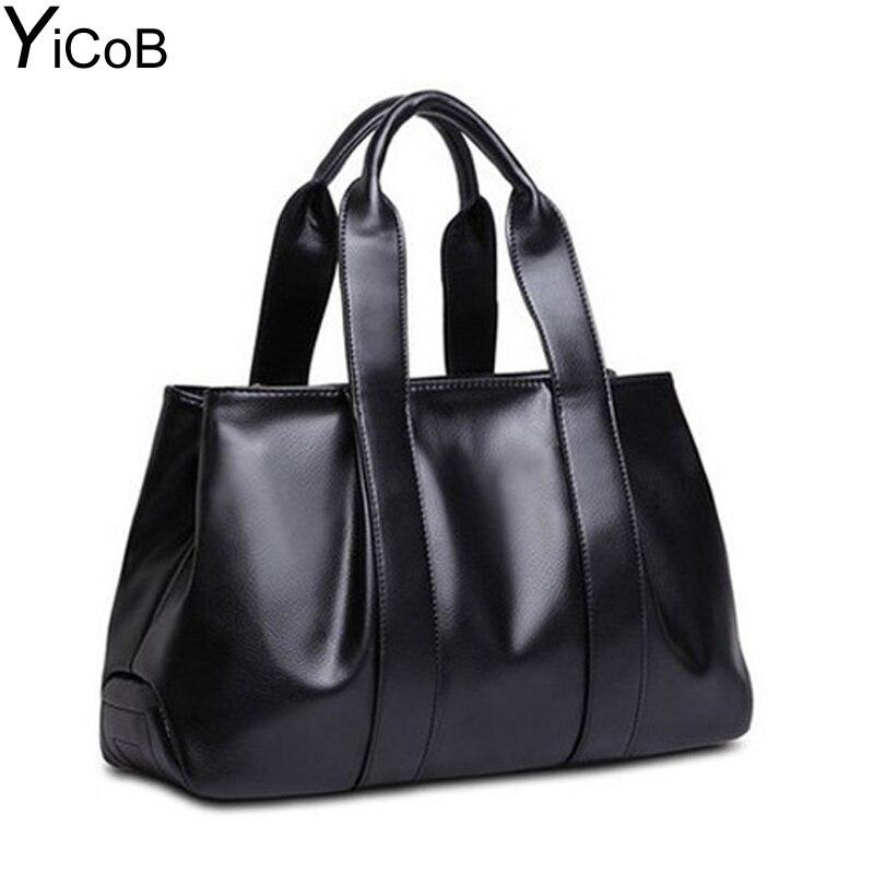 YiCoB Women Handbag Tote Big Shoulder Bag PU Leather Messenger Bags Shoulder Crossbody Bag for Ladies Female Girls Bolsa Sac NEW