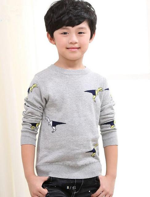 2016 outono roupas meninos camisolas de manga longa em torno do pescoço de algodão das crianças do bebê menino malha pullovers camisolas para meninos crianças