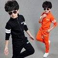 3 4 5 6 7 8 9 10 11 anos meninos roupas jogo mola Spcs Suis Outwear Manga Longa + Calça Esporte dos miúdos Conjunto de Roupas Menino Conjunto Meni