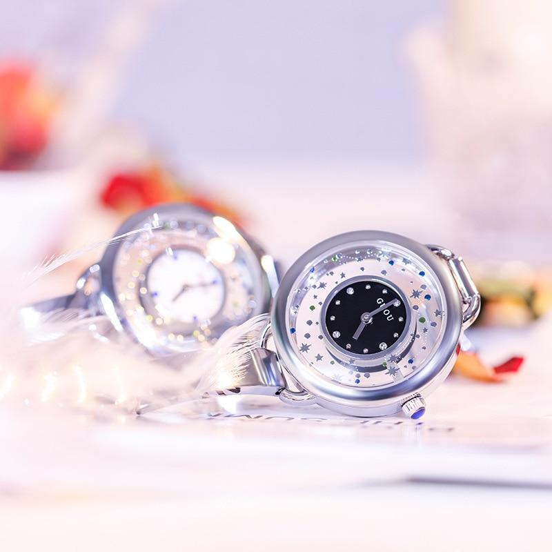 Double round zircon stone dial beautiful star pattern steel thin watchband fashionquarz women watch G66648Double round zircon stone dial beautiful star pattern steel thin watchband fashionquarz women watch G66648