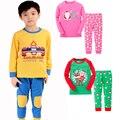 2016 Algodón Niños Pijamas de Navidad Ropa de Bebé Niños Y Niñas pijamas ropa de Dormir Kids Niños Conjuntos Ropa Set Pijama