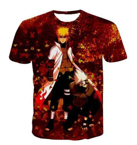 Anime Naruto Funny Short Sleeves 3D Print T-Shirt