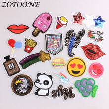 ZOTOONE Iron on Patches for Clothing Unicorn Animal Eagle Panda Sequin Letter Flower Balloon Embroidery Patch Clothes Decoration