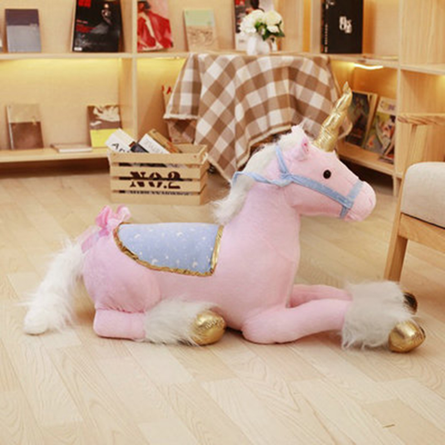 Cute Giant Unicorn Plush Big Stuffed Animal Toys Ty Soft Toy Doll Einhorn Coussin Unicornios Eenhoorn Peluche Unicornio 50T0463 baofeng uvb2 plus vhf uhf dual band programmable walkie talkie two way radio fm transceiver handheld dual standby interphone with flashlight