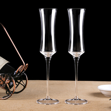 Creative Lead-free Crystal Flutes Champagne glass Fine waist crystal champagne wine goblets cup sweet goblet