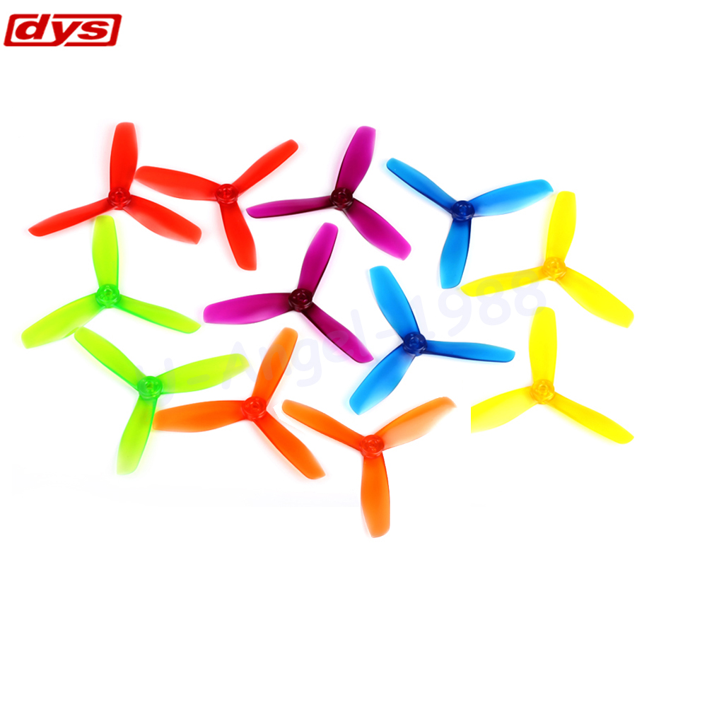 20pcs/lot Original DYS 5 5045 BN504503 Bullnose Tri-Blade Propellers Props CW/CCW For FPV QAV210 Drone (10 pair) original emax rs1104 5250kv brushless motor t2345 tri blades propellers cw ccw props for 130 rc brushless racer drone q20400